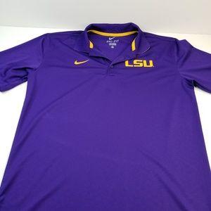 LSU Dry-fit Polo Golf Shirt Meduim
